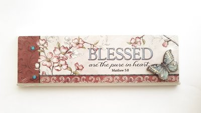 "PLAQUE ""BLESSED ARE THE PURE IN HEART"" 