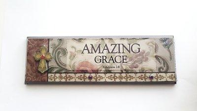 "PLAQUE ""AMAZING GRACE"" | Ephesians 2:8"