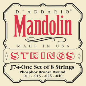 D'ADDARIO J74 MANDOLIN SNAREN