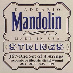 D'ADDARIO J67 MANDOLIN SNAREN