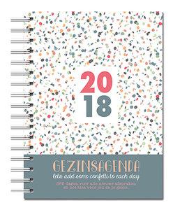 "AGENDA Gezinsagenda 2018 groot ""Let's add some confetti to each day"""