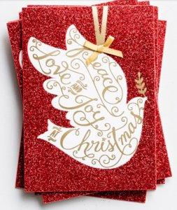 "WENSKAART Dove ""Peace, Love and Joy at Christmas"""
