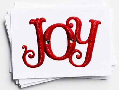"""WENSKAART Christmas """"Joy"""""""