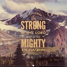 Wandkalender 2022 25x25cm - Bes Strong in the Lord | mcms.nl
