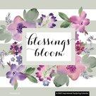 Blessings Bloom - Standaard wandkalender large 30x30cm | mcms.nl