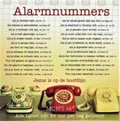 Alarmnummers - enkele kaart