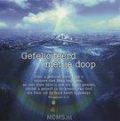 Gefeliciteerd met je doop - enkele kaart | MCMS.nl