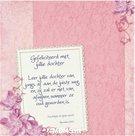 Gefeliciteerd met jullie dochter - enkele kaart met Bijbeltekst