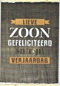 Lieve ZOON gefeliciteerd - wenskaart met enveloppe | MCMS.nl