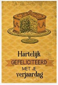 WENSKAART - Hartelijk gefeliciteerd | MCMS.nl