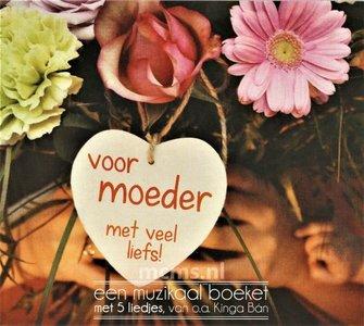 Voor moeder met veel liefs - Wenskaart CD | mcms.nl