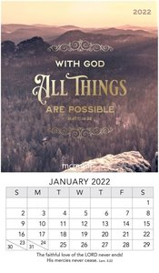 With God All Things - 2022 mini magnetisch kalender 9x15cm | mcms.nl