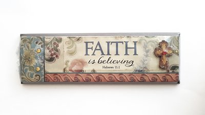 "PLAQUE ""FAITH IS BELIEVING"" 