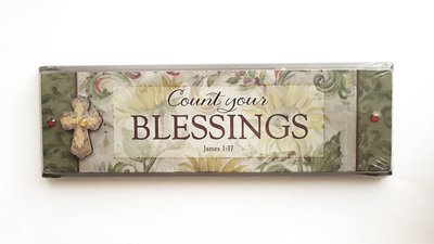 "PLAQUE ""COUNT YOUR BLESSINGS"" 