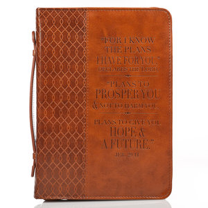 Biblecover 'For I Know The Plans' brown
