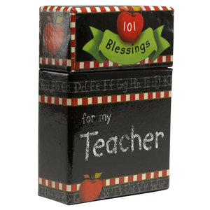 """BOX OF BLESSINGS """"101 Blessings For My Teacher"""""""