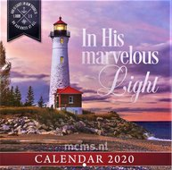 In His Marvelous Light (Lighthouse) - Wandkalender Large 25x25 cm
