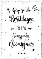 Kerstwens enkele kaart met enveloppe | mcms.nl
